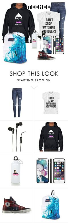 """All fan Markiplier outfit!"" by babyjones3 ❤ liked on Polyvore featuring H&M, Oakley, Merkury Innovations, Converse and JanSport"