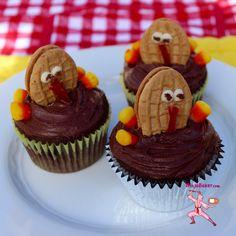 Gluten-Free Grateful Thanksgiving Chocolate Cupcake Turkeys NinjaBaker.com  #glutenfree #glutino