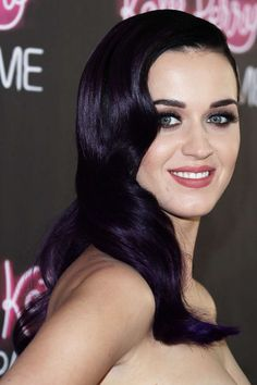 Love the hair color dark purple Katy Perry