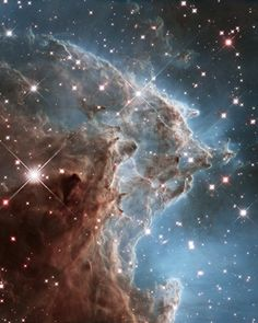 """Hubble's 24th anniversary photo of the """"Monkey Head Nebula,"""" a cloud of gas & dust, & stellar nursery. Photographed by NASA/ESA Hubble Space Telescope; © NASA/ESA/& the Hubble Heritage Team. From the story, Out of This World, by L'ArcoBaleno"""
