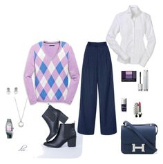 """Blue"" by dmiddleton ❤ liked on Polyvore featuring Tommy Hilfiger, TIBI, Swarovski, Rado, Guerlain, Christian Dior and Hermès"