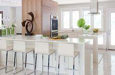 #Cocina #blanco #madera organic white @caesarstone -