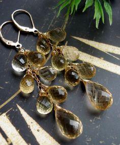 Champagne citrine earrings http://madebysam.ca/earring.html
