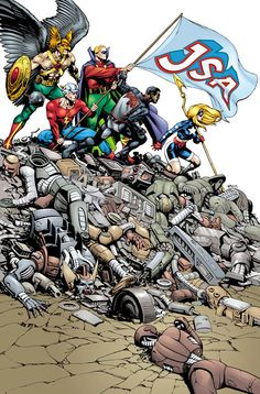 JSA issue 31, cover by Rags Morales