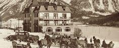 Cresta Kulm St. Moritz Good Old Times, Skiing, Hotels, Black And White, Vintage, Painting, Nostalgia, Ski, Black N White
