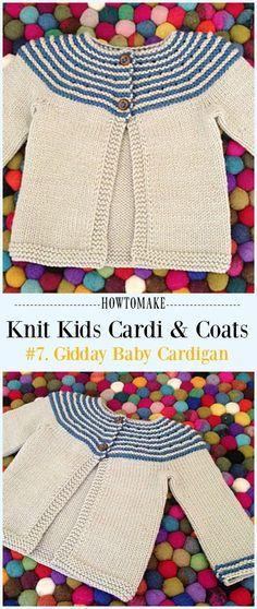 49 ideas knitting patterns free kids cardigan baby sweaters for 2019 Baby Cardigan Knitting Pattern Free, Baby Sweater Patterns, Knitted Baby Cardigan, Knit Baby Sweaters, Baby Pullover, Baby Hats Knitting, Knitting For Kids, Free Knitting, Cardigan Sweaters