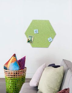 Hexagon Pinboard, Large in Pear Whiteboard, Wall Spaces, All Design, Fiber, Decals, Kids Rugs, Strong, Shapes, Texture