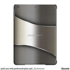 #metal case with perforated plate and screws  - #personalized #iPad #air #cover #case
