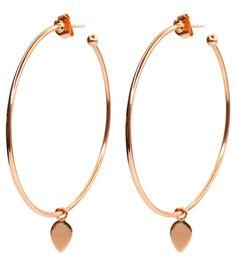 52e50cdf7bfab6 Brooklyn Designs jewelry Dawson Rose Gold Hoop Earrings Gold Hoop Earrings,  Designer Earrings, Rose