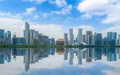 Descargar fondos de pantalla Shanghai, modernos edificios, rascacielos, metropolis, primavera, paisaje urbano, ciudad moderna, China