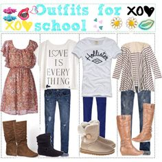 """Cute Outfits for school♥"" by the-girlys-that-tip on Polyvore"
