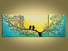 MODERN ABSTRACT HUGE CANVAS ART WALL DECOR OIL PAINTING-Bird (No Frame)
