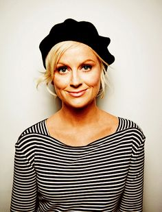 Amy Poehler, I may just change this category to actresses in berets.