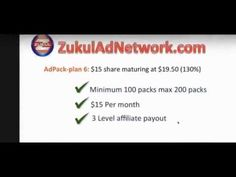 Zukul Ad Network Affiliate comp plan review