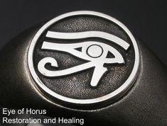 Saito - Egyptian motif EYE OF Horus - Restoration and Healing Amulet Silver Ring - Free Shipping