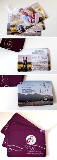 Wedding Invitation, three cards, contemporary, purple. (avizadesign.com) Stationary Design, Wedding Stationary, Wedding Invitations, Graphic Design Inspiration, Wedding Ideas, Contemporary, Purple, Cards, Wedding Invatations