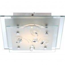 Mennyezeti lámpatest króm/K5 kristály /üveg 1X LED 10W