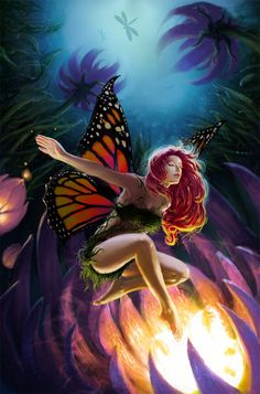 Explore the FANTASY ART collection - the favourite images chosen by babsartcreations on DeviantArt. Fairy Dust, Fairy Land, Fairy Tales, Butterfly Fairy, Butterfly Wings, Monarch Butterfly, Fairy Pictures, Pictures Images, Elves And Fairies
