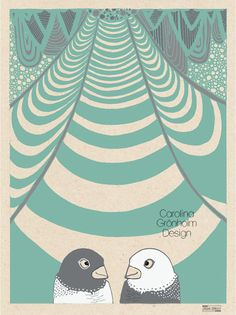 Bird Wedding  Illustration Print Love Bird by latenightdrawing, $12.00