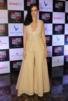 Indo-German Actor: @evelyn_sharma at @GQ_India's Best Dressed Party, June, 14 in beautiful Mod #Sharara