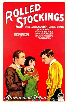 Rolled Stockings, 1927. #vintage #movies #posters #1920s