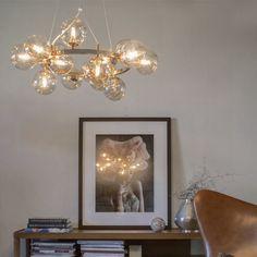By Rydéns Splendor Taklampa Amber Living Room Lighting, Kitchen Lighting, Hallway Decorating, Interior Decorating, Kristiansund, Boutique Design, Round Pendant, Amber Glass, Glass Shades