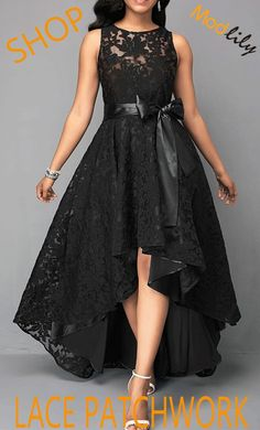 High Low Sleeveless Belted Black Lace Dress On Sale At Modlily. Fashion And Chea., High Low Sleeveless Belted Black Lace Dress On Sale At Modlily. Fashion And Chea. High Low Sleeveless Belted Black Lace Dress On Sale At Modlily. Stylish Dresses, Cheap Dresses, Casual Dresses, Lace Dresses, African Fashion Dresses, Fashion Outfits, Dress Fashion, Lace Dress Black, Summer Dresses For Women