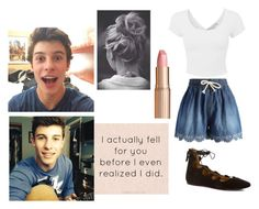 """Shawn"" by bananathecockatiel ❤ liked on Polyvore featuring Chicwish, Nine West and Charlotte Tilbury"