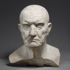 Portrait bust of a man [Roman] (12.233) | Heilbrunn Timeline of Art History | The Metropolitan Museum of Art. -- Dignitas and gravitas in the set of his jaw.