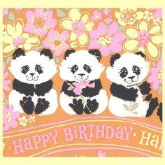 Happy pink pandas!