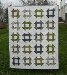 churn dash quilt by s.o.t.a.k handmade, via Flickr  Denyse Schmidt Fans flickr group