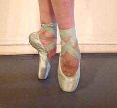 Beautiful Dead Green Gaynor Minden Pointe shoes ballet ballerina decorating art #various