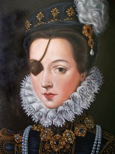 Portrait of Ana Mendoza de la Cerda, 1540 – 1592 Princess of Eboli. Married when she was twelve years old, lost an eye in a duel, was one of the most celebrated beauties of her time and died in prison. Mendoza, Women In History, European History, Art History, Mode Renaissance, Renaissance Portraits, Art Plastique, 16th Century, Oeuvre D'art