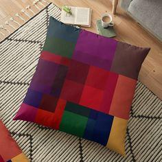 'Jewel tones abstract geometric I' Floor Pillow by WesternExposure Designer Pillow, Pillow Design, Floor Pillows, Throw Pillows, Jewel Tones, Pillow Shams, Tack, Plush