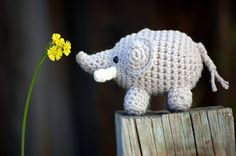 amigurumi elephant keychain!  purchase here: http://www.etsy.com/listing/92529471/elephant-amigurumi-baby-gray-safari