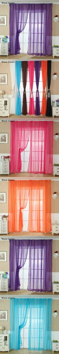 New Luxurious Upscale Jacquard Yarn Curtains Tulle Voile Door Window ...