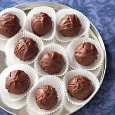 Chocolate Chip-Cookie Dough Truffles  From Better Homes and Gardens, ideas and improvement projects for your home and garden plus recipes and entertaining ideas.