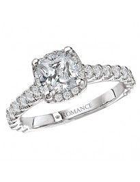 Halo Semi-Mount Diamond Engagement Ring from Love my Romance.