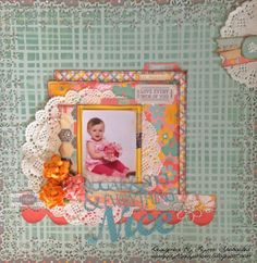 Sugar And Spice designed by Lynn Shokoples using the new Baby Bump Collection. #scrapbooking, #layouts