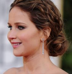 braid updo hairstyles | Jennifer Lawrence Messy Braided Hairstyle 2013 | Hairstyles Weekly