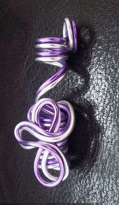 Locs jewelry silver and purple wire by FashionbellaJewelry on Etsy, $11.50