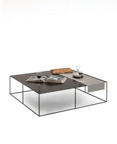 Coffee table / contemporary / copper / rectangular SLIM IRONY by Maurizio Peregalli ZEUS