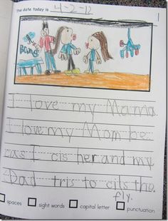 Loving to Write! as seen on Kindergarten Klub    www.kindergartenklub.com