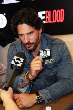 """SAN DIEGO, CA - JULY 14: Actor Joe Manganiello attends HBO's """"True Blood"""" during Comic-Con International 2012 at San Diego Convention Center on July 14, 2012 in San Diego, California. (Photo by FilmMagic/FilmMagic) 2012 FilmMagic"""