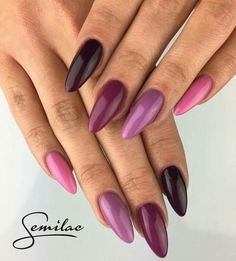 30 Hot Nail Trends For 2018 - purple nails - Fancy Nails, Trendy Nails, Perfect Nails, Gorgeous Nails, Hot Nails, Hair And Nails, Purple Nails, Nail Trends, Nail Arts