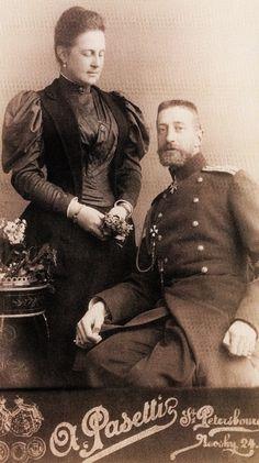 """romanovsonelastdance:  """"Olga Konstantinovna, Queen of the Hellenes, and her brother Konstantin Konstantinovich.  """""""
