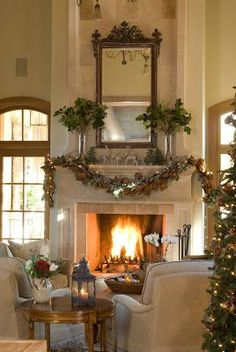 Rinfret LTD: Holiday Decorating, Part One: Mantel Mania! Christmas Fireplace, Christmas Mantels, Fireplace Mantle, Christmas Decorations, Holiday Decorating, Fall Mantels, Interior Decorating, Decorating Ideas, Christmas And New Year