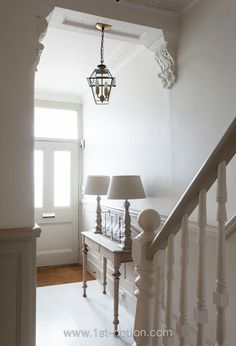 Pretty town house entrance hall