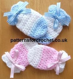 Sweet little Baby Mittens ~ free crochet pattern