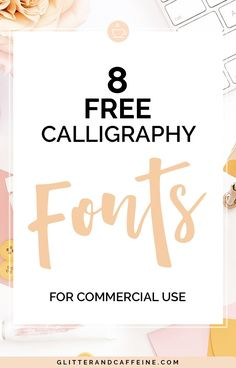 Calligraphy Fonts Free For Commercial Use - Glitter and Caffeine E Commerce, Business Tips, Online Business, Feminine Fonts, Lettering Tutorial, Addressing Envelopes, Grafik Design, Design Blogs, Blogger Tips